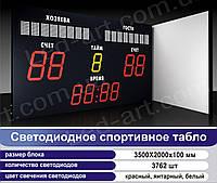 Светодиодное спортивное табло универсальное футбол LED-ART-Sport-3500х2000-3762