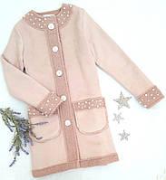 Пальто подростковое замшевое  р.134-158 пудра, фото 1