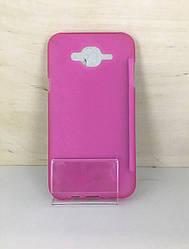 Силиконовый чехол-накладка для Samsung Galaxy  J7 2016 (J710) Розовый