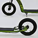 Двухколесный самокат Corso S 90517 зеленый надувные колеса ручной тормоз от 3 лет, фото 2
