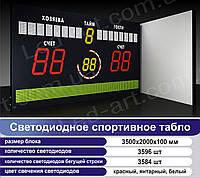 Светодиодное спортивное табло универсальное футбол LED-ART-Sport-3500х2000-7180