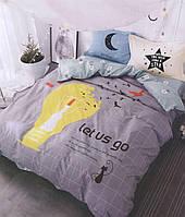 Комплект двуспального евро сатинового постельного белья ТМ UG