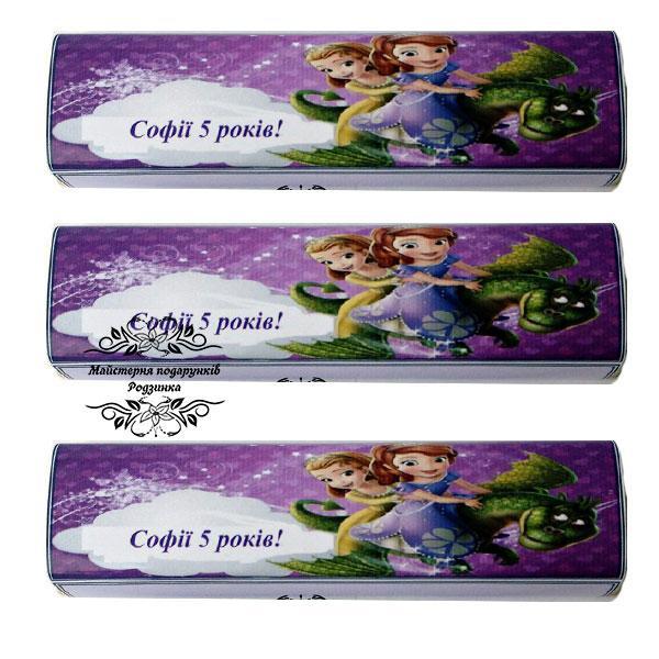 Подарунковий дитячий шоколад 40 грам . Шоколадна бонбоньєрка ( шоколадная бонбоньерка)