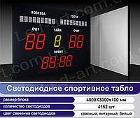 Светодиодное спортивное табло универсальное футбол LED-ART-Sport-4000х3000-4152