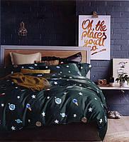 Двуспальное евро постельное белье с египетского хлопка  ТМ Kesar Polo