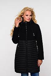 Женская весенняя удлиненная  куртка 2019 Агния  Nui Very (Нью вери) черный