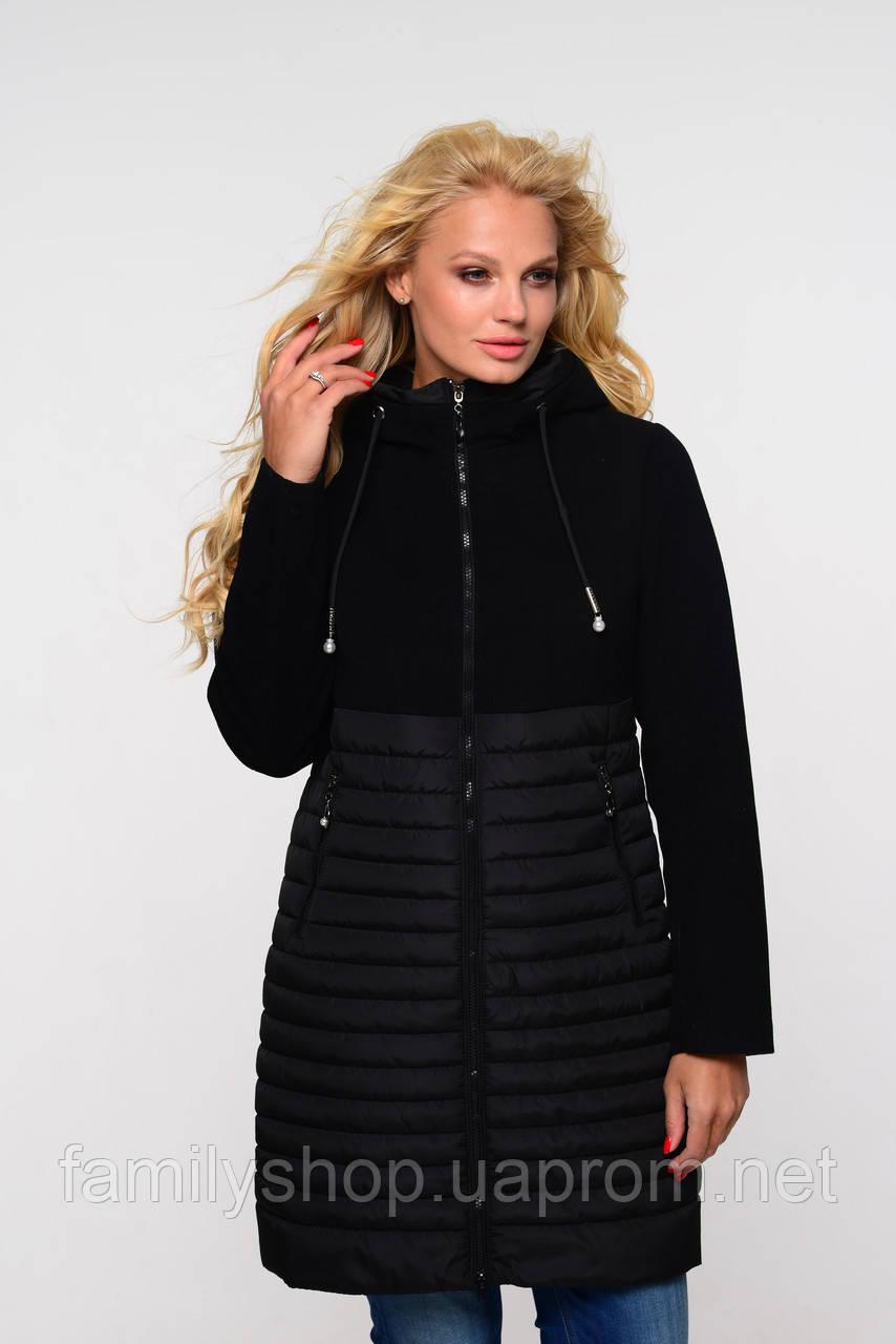 Женская осенняя удлиненная  куртка 2019 Агния  Nui Very (Нью вери) черный