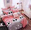 Комплект полуторного евро сатинового постельного белья  ТМ UG, фото 2