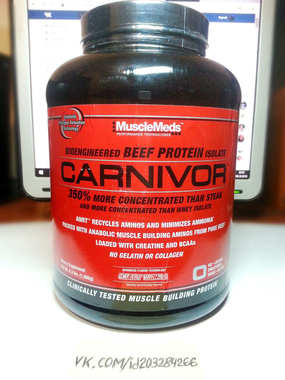 Протеин, Musclemeds Carnivor Beef Protein 1960г