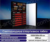 Светодиодное спортивное табло универсальное водное поло LED-ART-Sport-1000х1500-3506