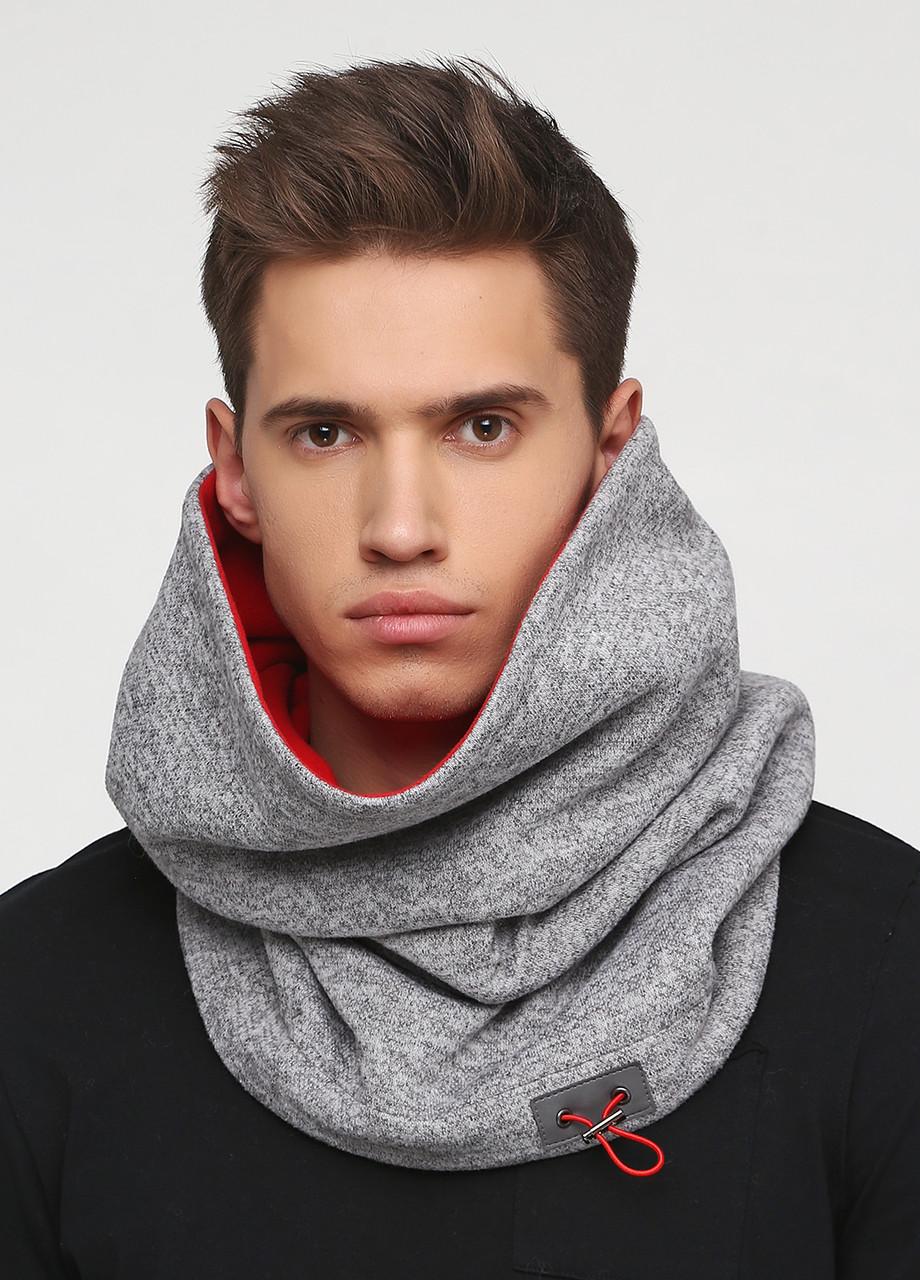 Дизайнерский высокий трикотажный шарф-снуд ручной работы TamiMore унисекс (007)