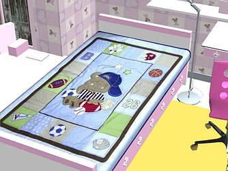 Одеяло хлопок сатин апликация (Италия)