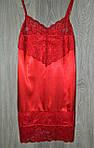 Пеньюар  с ажуром стрейч атлас M (44-46) красный (6598)*