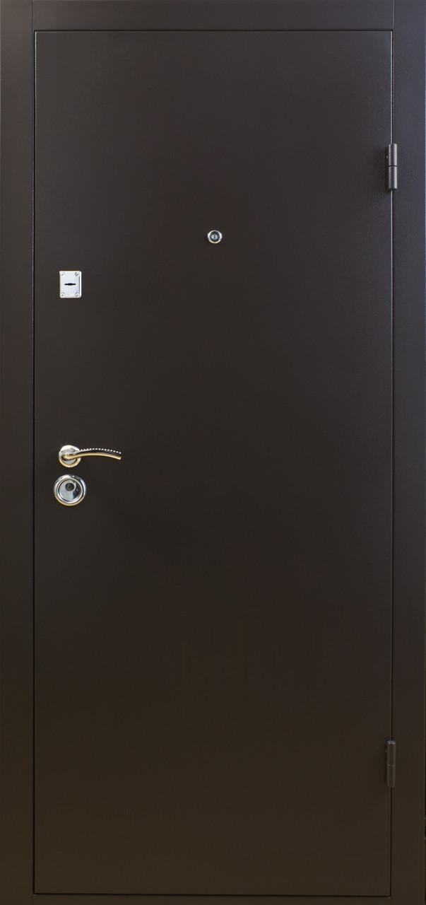 Двери металлические, гнутый профиль, коробка 90 мм, порошковая покраска