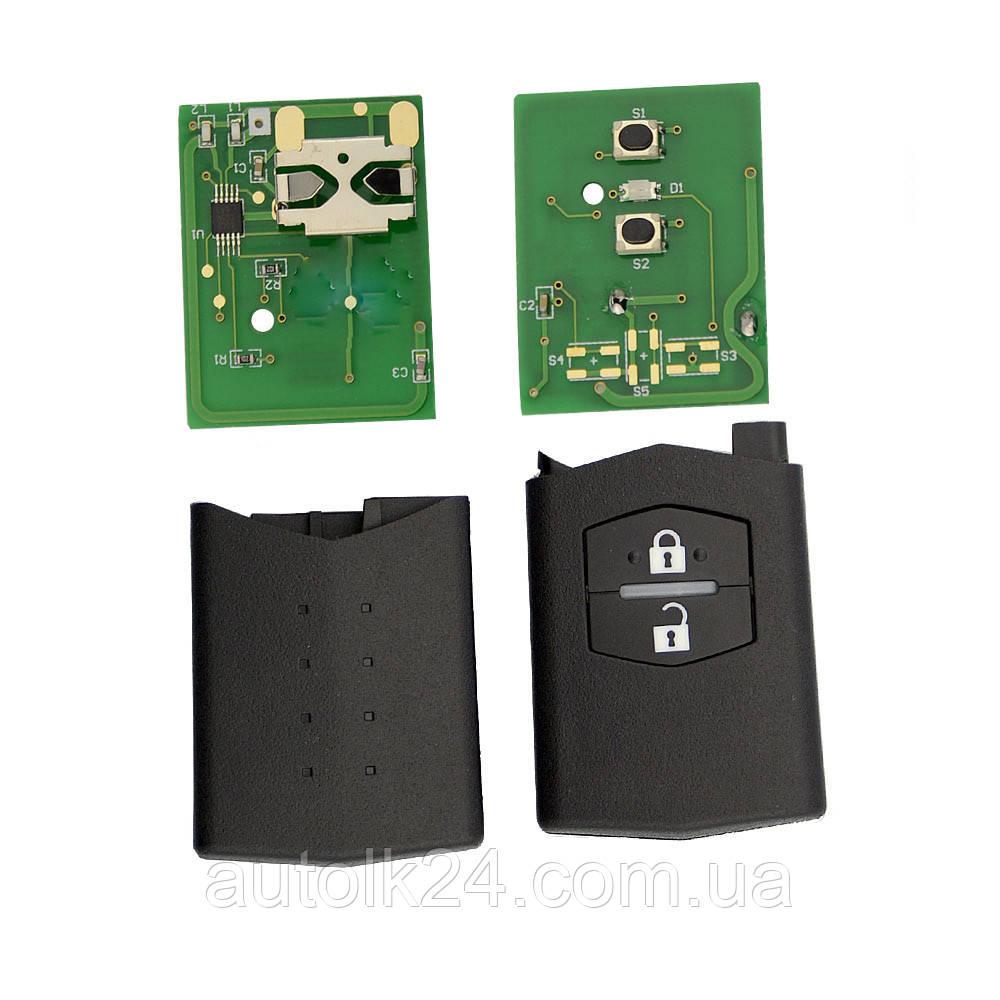 Пульт для выкидного ключа Mazda M3 M6 (Мазда) 2 кнопки 433 Mhz
