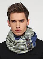 Дизайнерский шерстяной шарф-снуд ручной работы TamiMore унисекс (009)