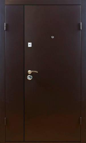 Двери металлические полуторные, гнутый профиль, коробка 90 мм, порошковая покраска