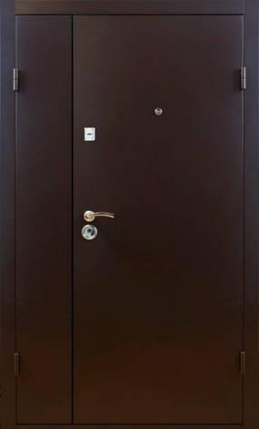 Двери металлические полуторные, гнутый профиль, коробка 90 мм, порошковая покраска, фото 2