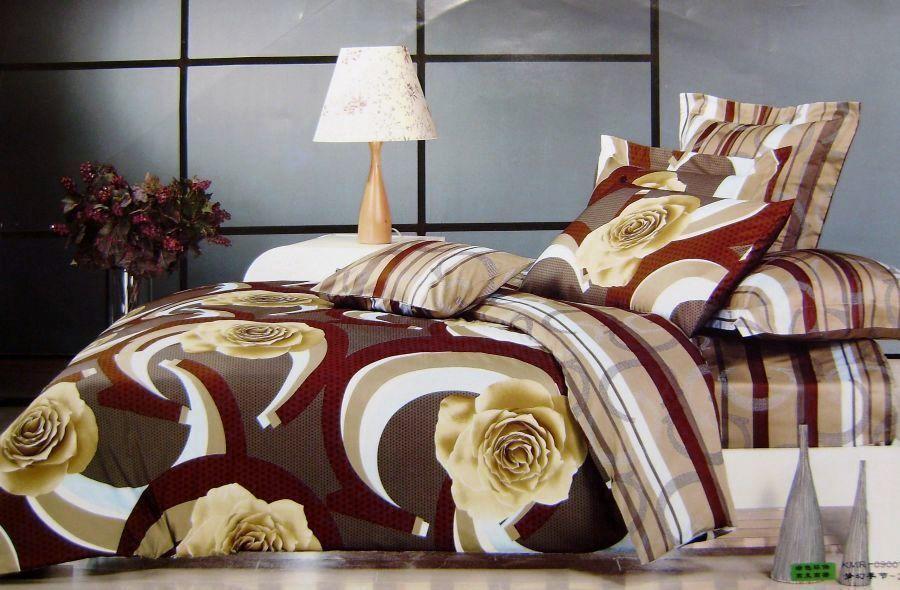 Комплект семейного постельного белья с мако-сатина Роза