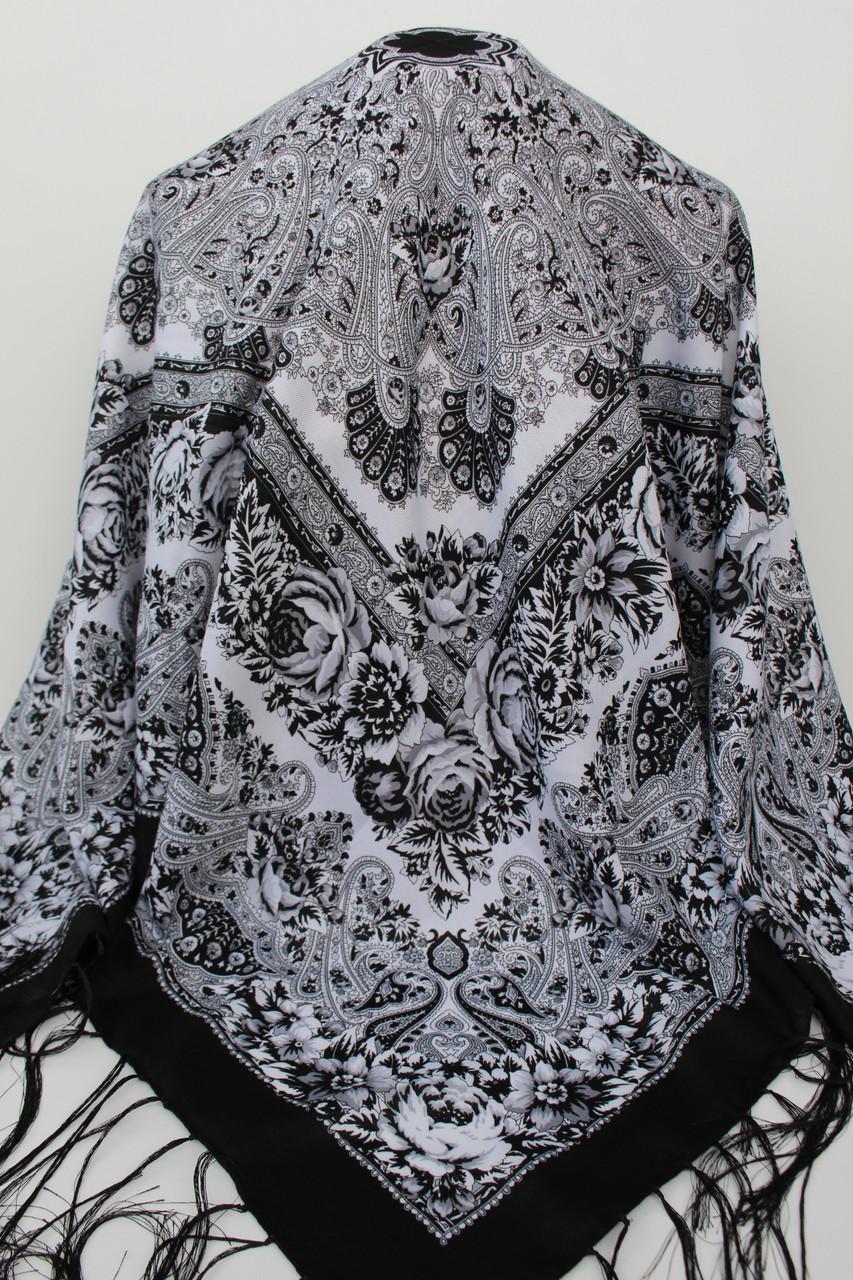Платок шерстяной павлопосадский (120см) 607020