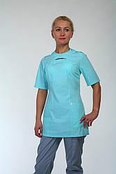 Медицинский женский костюм ментолового цвета (42-60 р)