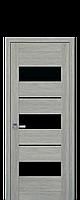 Межкомнатные двери Лилу с чёрным стеклом