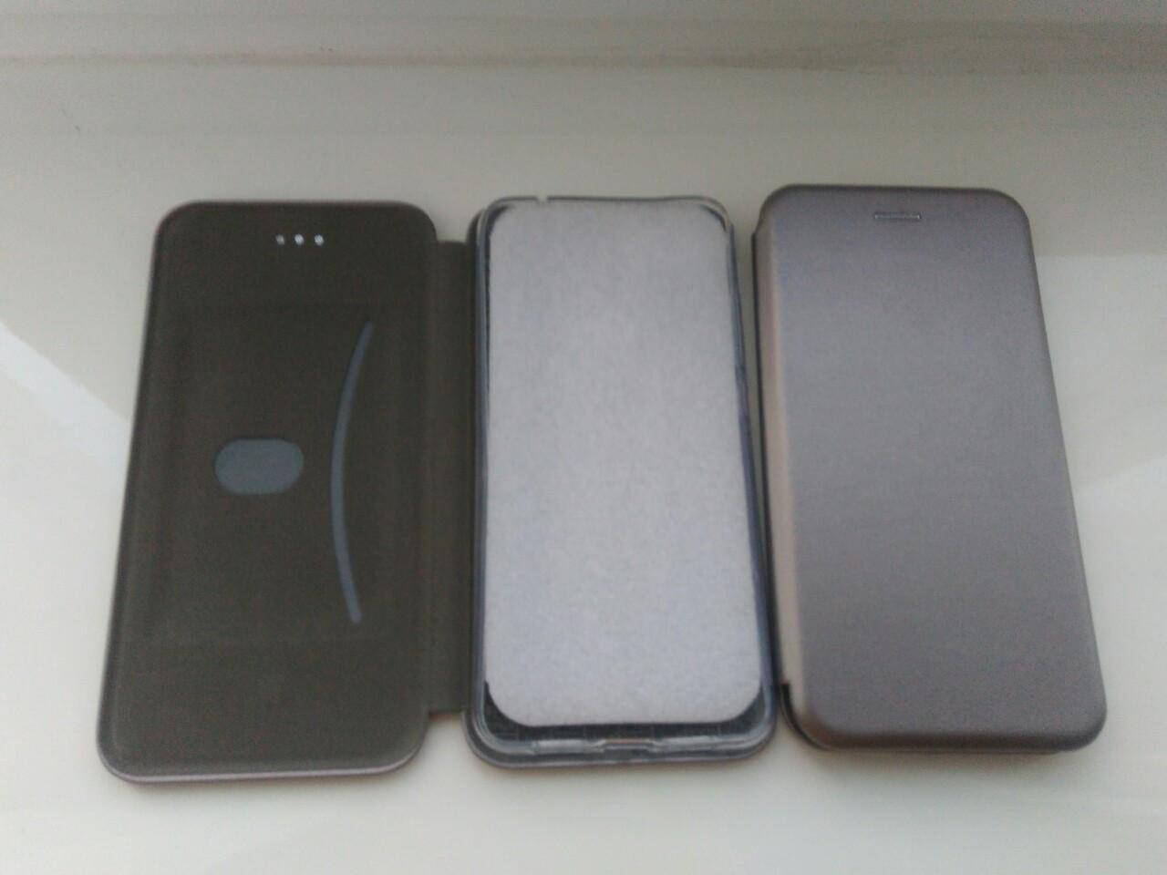 Чехол- книга Premium для Xiaomi MI 8 Lite  (серый)