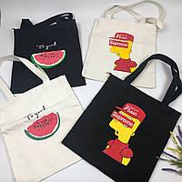 Тканевая сумка   Supreme Bart simpson logo