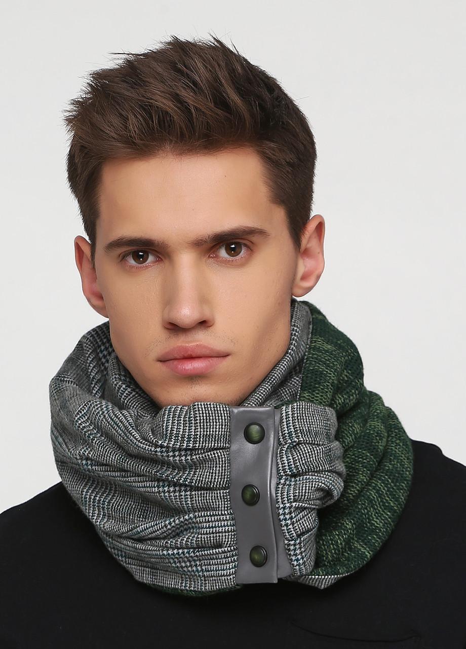Дизайнерский шерстяной шарф-снуд ручной работы TamiMore унисекс (013)