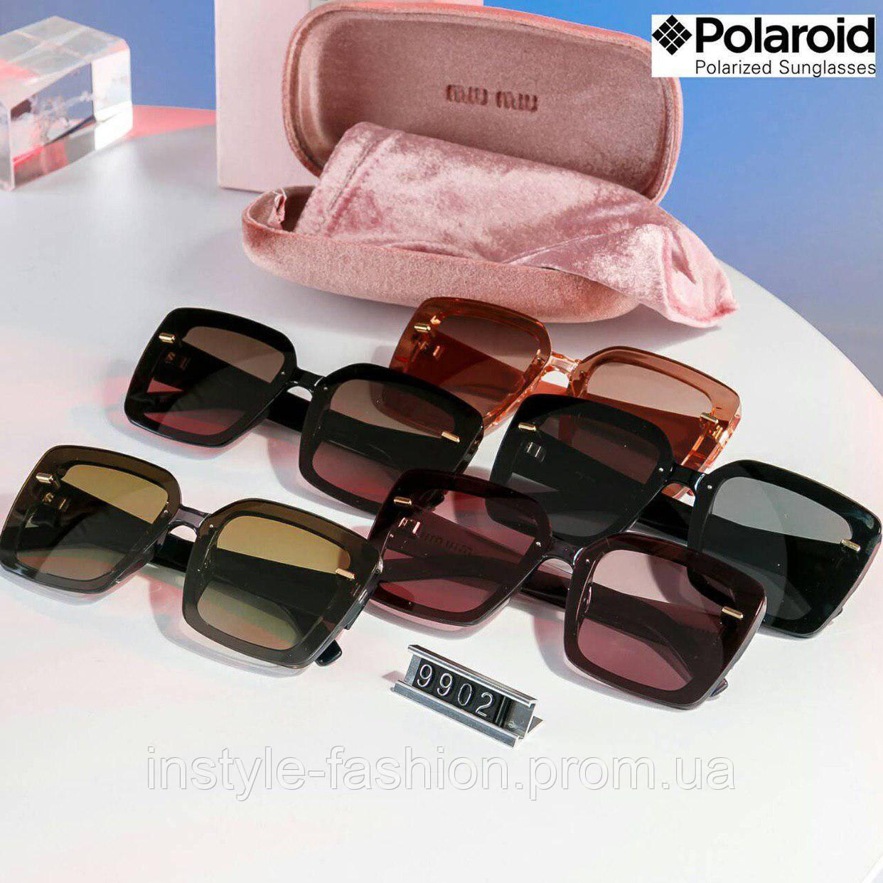 6a15a7665270 Брендовые женские очки копия Miu Miu Миу Миу polaroid квадратные ...