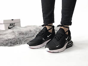 Женские кроссовки Nike Air Max 270 чёрно-белые