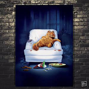 """Постер """"Garfield (2004). Кот Гарфилд в кресле"""". Размер 60x43см (A2). Глянцевая бумага"""