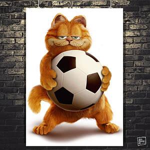 "Постер ""Garfield (2004). Кот Гарфилд с мячом"". Размер 60x43см (A2). Глянцевая бумага"