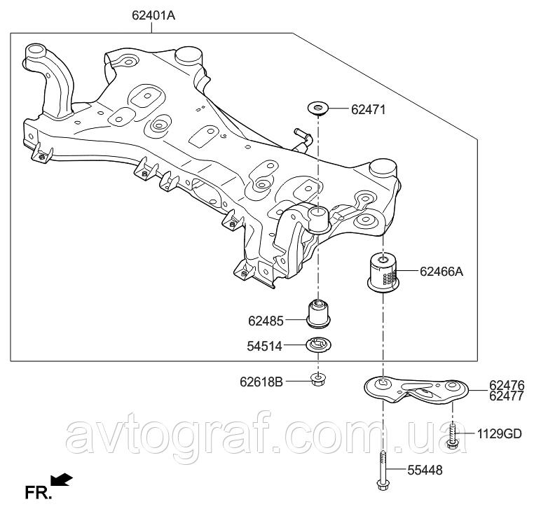 Підрамник на Хьюндай Соната (Hyundai Sonata) 2014-2019