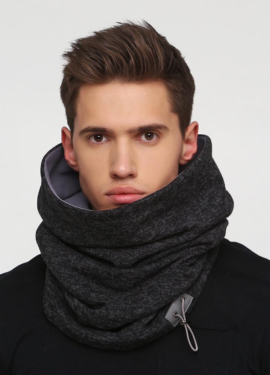 Дизайнерский высокий трикотажный шарф-снуд ручной работы TamiMore унисекс  (017)