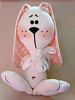 Мягкая игрушка ручной работы на подарок девушке Умиленный зайка / подарок на 8 Марта