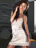 Атласная женская сорочка с кружевом S-M, M-L, L -XL