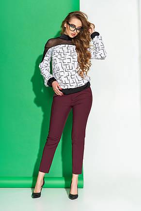 Женская блуза с модным принтом 44-54рр., фото 2