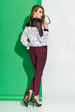 Женская блуза с модным принтом 44-54рр., фото 3