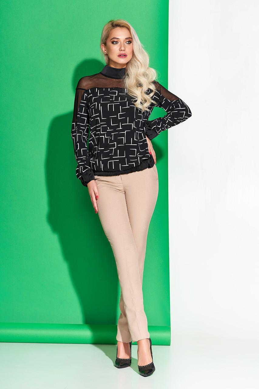 Женская блуза с модным принтом 44-54рр.