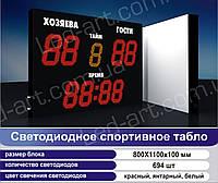 Светодиодное спортивное табло универсальное футбол LED-ART-Sport-1100х800-694