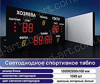 Светодиодное спортивное табло универсальное футбол LED-ART-Sport-1000х2000-1348