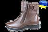 Мужские ботинки кожанные с усиленным пяткодержателем mida 14629шок коричневые   зимние