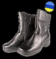 Женские ботинки savio 96 темно-синие   зимние
