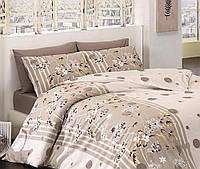Комплект постельного белья First Choice Ranforce ранфорс евро арт.Ivy Kahve