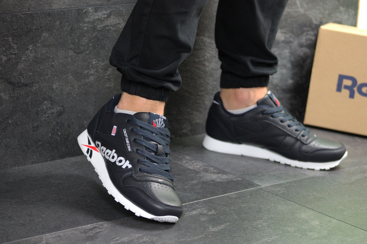 Мужские кроссовки Reebok (Темно-синие)