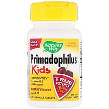 """Пробиотики для детей Nature's Way """"Primadophilus Kids"""" вишневый вкус, 3 млрд КОЕ (30 таблеток)"""