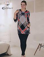 Женский костюм рубашка с лосинами фирмы COCOON9522