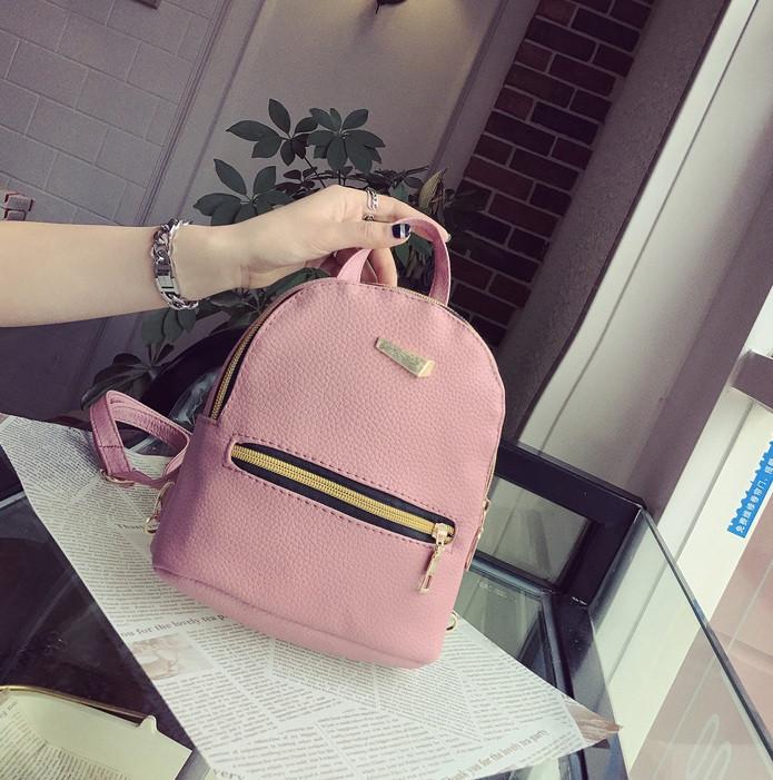 0c5dbe45512f Маленький рюкзак женский серый ПУ кожа Розовый: продажа, цена в ...