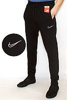 Спортивные штаны мужские черные NIKE манжет (копия)(L-2XL)